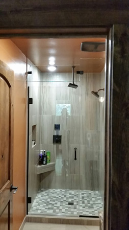 mirrors and shower glass